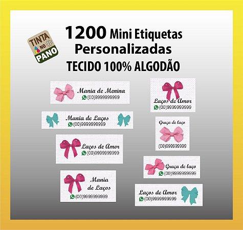 1200 Mini Etiquetas Personalizadas Para Acessórios De Cabelo