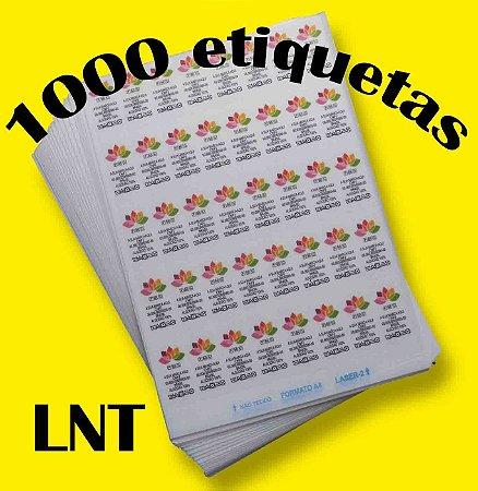 LNT 1000 Etiquetas de Composição Têxtil Personalizadas