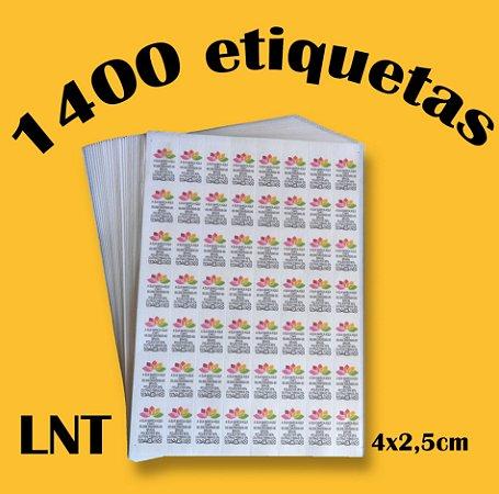 LNT 1400 Etiquetas de Composição Têxtil Personalizadas