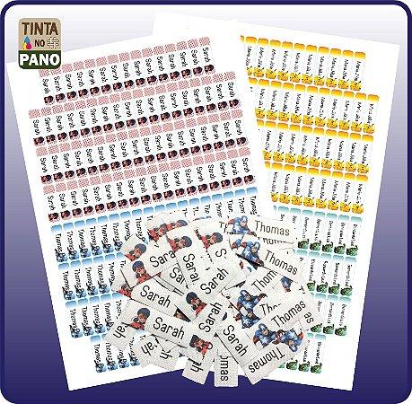 80 Termocolantes + 130 Adesivos Vinil p/ Materiais