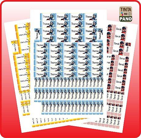 100 Adesivos de Vinil para Identificação de Materiais