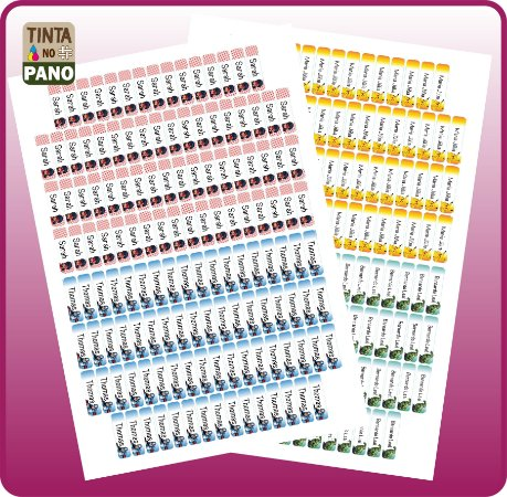 130 Adesivos De Vinil Para Identificação de Materiais