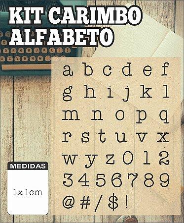 Kit Carimbo Alfabeto Minúsculo 1x1cm