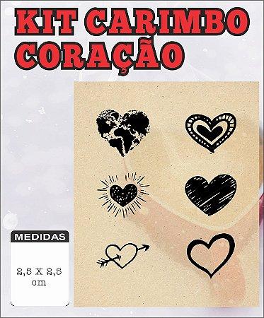 KIT carimbos Coração 2,5x2,5