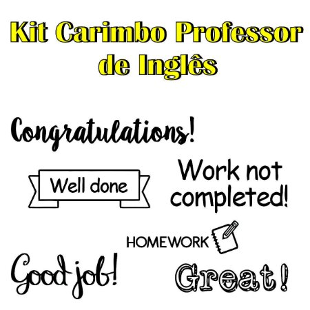 Kit Carimbos de Professor de Inglês