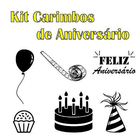 Kit Carimbos de Aniversário