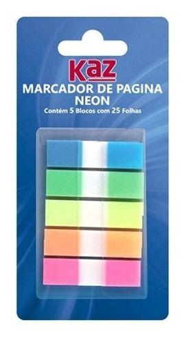 Marcador De Paginas Flag Neon 25fls