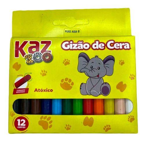 Gizao De Cera C/12 Cores 90g