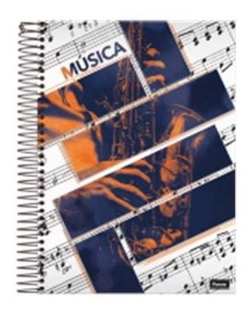 Caderno Univ. Cd  1x1 96fls Musica