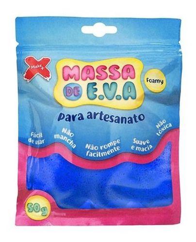 Massa Eva Artesanato Massinha De Modelar 50g Azul