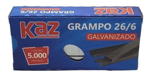 Grampo Galvinizado 26/6 Kaz
