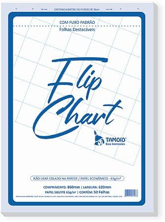 FLIP CHART  COM 50 FOLHAS 62X86CM