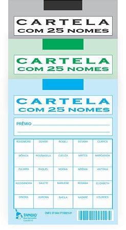 CART RIFA C/ 25 NOMES C/ 50 UND