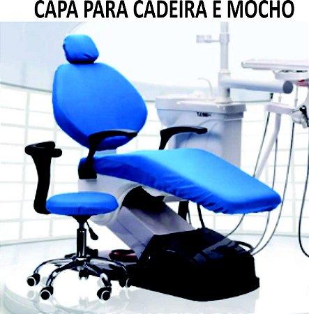 Capa para cadeira odontológica, em tecido poliamida colorido