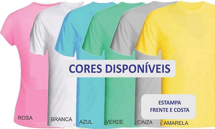 5 Camisetas personalizadas em sublimação