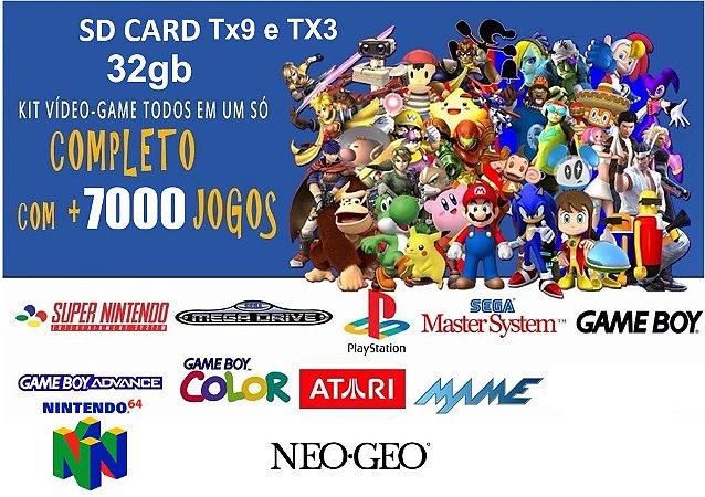 Micro SD 32gb 7000 jogos para TX3 ou TX9