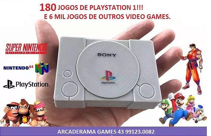 ARCADERAMA Mini Playstation 6000 jogos