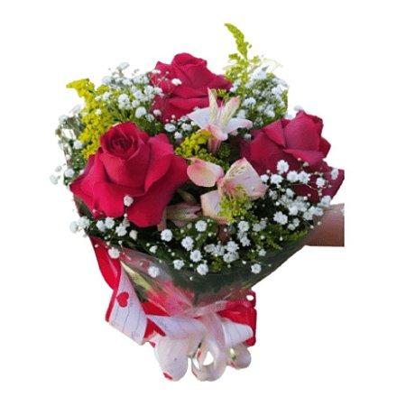 Buquê de Rosas Tradicional Pequeno