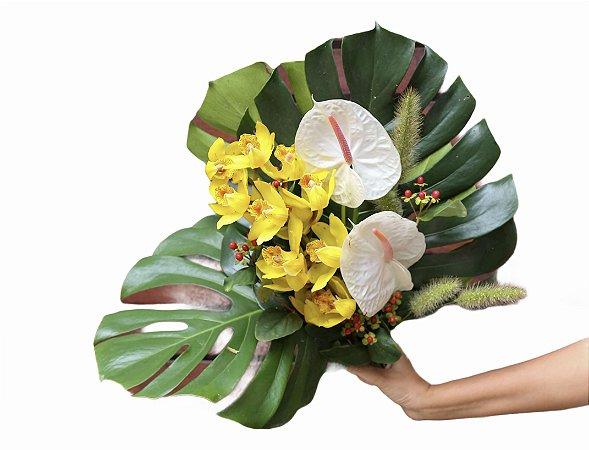 Bouquet de orquídeas e antúrios