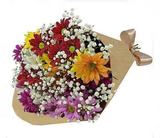 Bouquet Flores do Campo no kraft