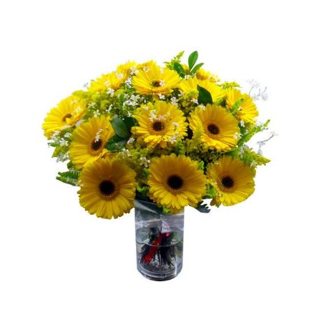 Bouquet de gerberas amarelas