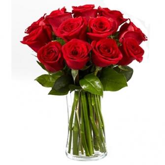 Jarra de vidro de rosas Vermelhas