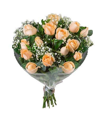 Belíssimo bouquet de rosas cha