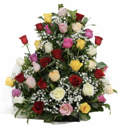 Arranjo de Rosas Coloridas