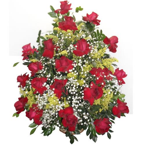 Cesta grande de rosas importadas
