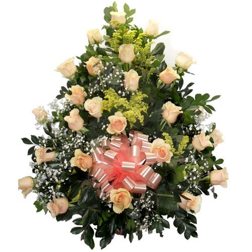 Cesta grande 2dz de rosas cha
