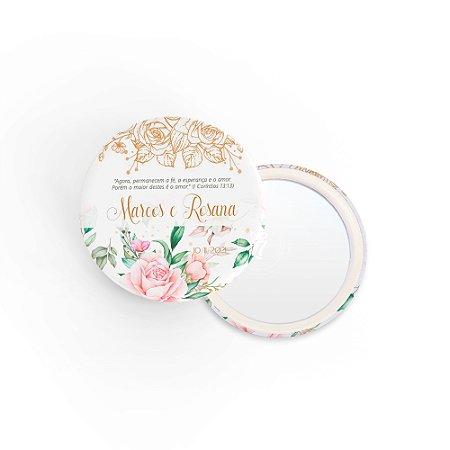 Kit Espelho Lembrancinha Casamento Ramos Florais