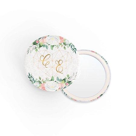 Kit Espelho Lembrancinha Casamento Arabesco Rosas