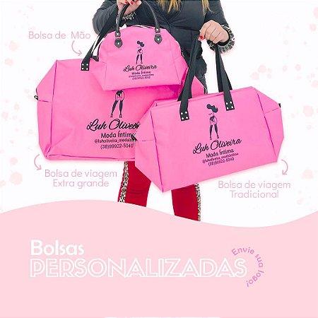Kit Bolsas Personalizadas | Bolsa de Viagem Extra Grande + Bolsa de Viagem + Bolsa de Mão