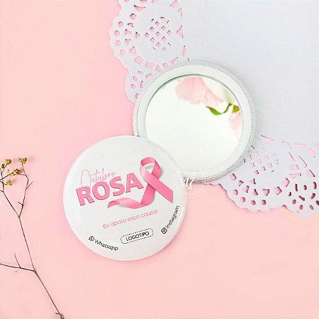 KitEspelho de Bolsa Brinde Outubro Rosa Rose