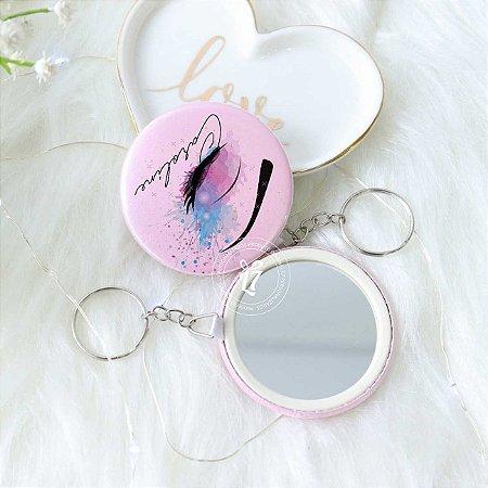 Kit Espelho Chaveiro Perolado Rose