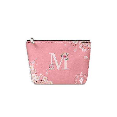 Kit Necessaire Personalizada Rosa Floral