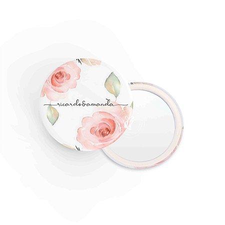 Kit Espelho Lembrancinha Casamento Floral