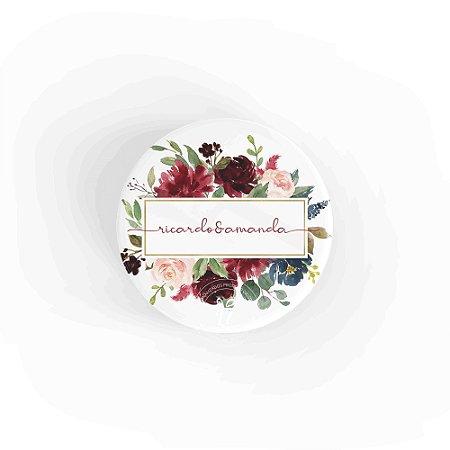 Kit Espelho Lembrancinha Casamento Flores