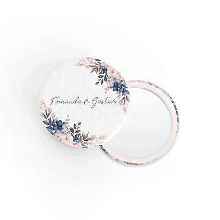 Kit Espelho Lembrancinha Casamento Violeta