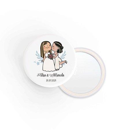 Kit Espelho Lembrancinha Casamento Diversificado