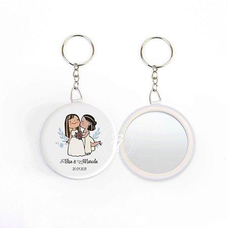 Kit Espelho Chaveiro Lembrancinha Casamento Diversificado
