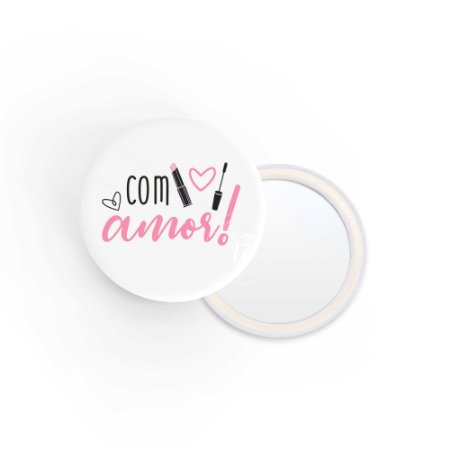 Kit Espelho de Bolsa Com Amor