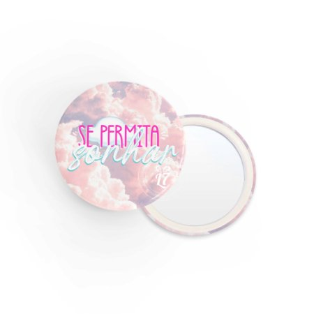 Kit Espelho de Bolsa Se permita Sonhar