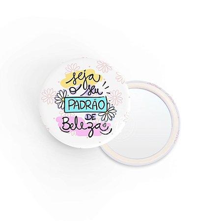 Kit Espelho de Bolsa Frase Sua Beleza