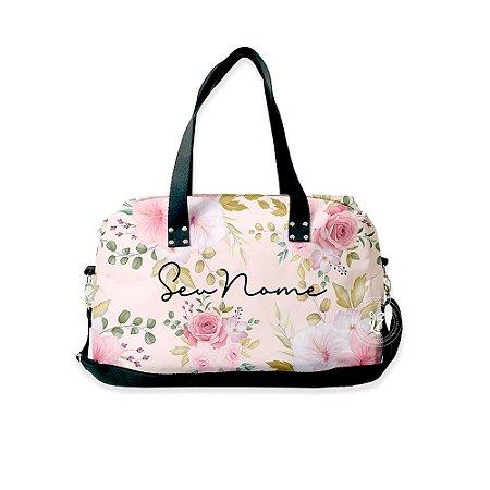 Bolsa de Viagem Personalizada Flores Rosas