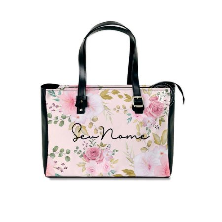 Bolsa Tiracolo Personalizada Flores Rosa