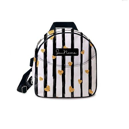 Mochila Mini Bag Personalizada Listras Coração