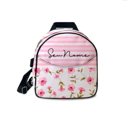Mochila Mini Bag Personalizada Listras Floral