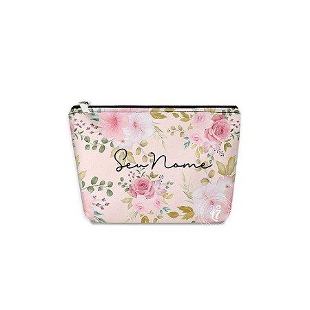 Kit Necessaire Personalizada Flores Rosas