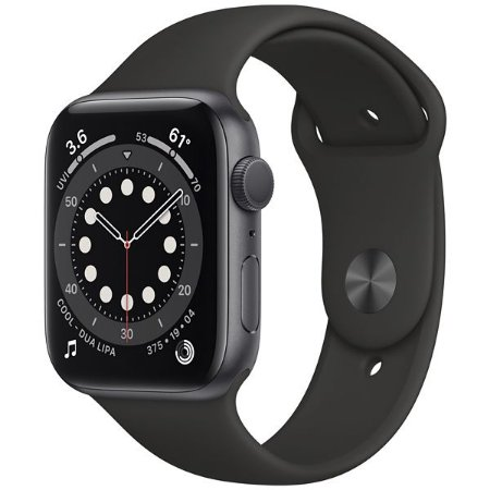 Apple Watch Series 6 44 mm A2292 M00H3LL A GPS Gray Aluminum Black